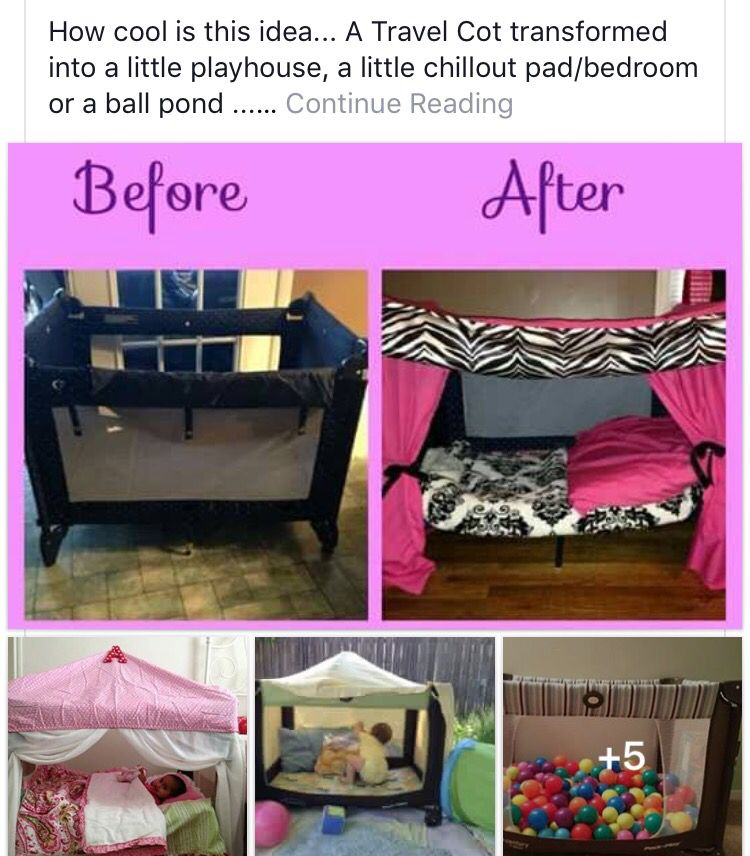 Transform Portable Crib Into Playhouse Diy Toddler Bed Toddler Bed Kids Bedroom