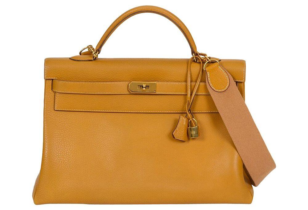 Hermès Kelly 40cm Natural w/ Strap