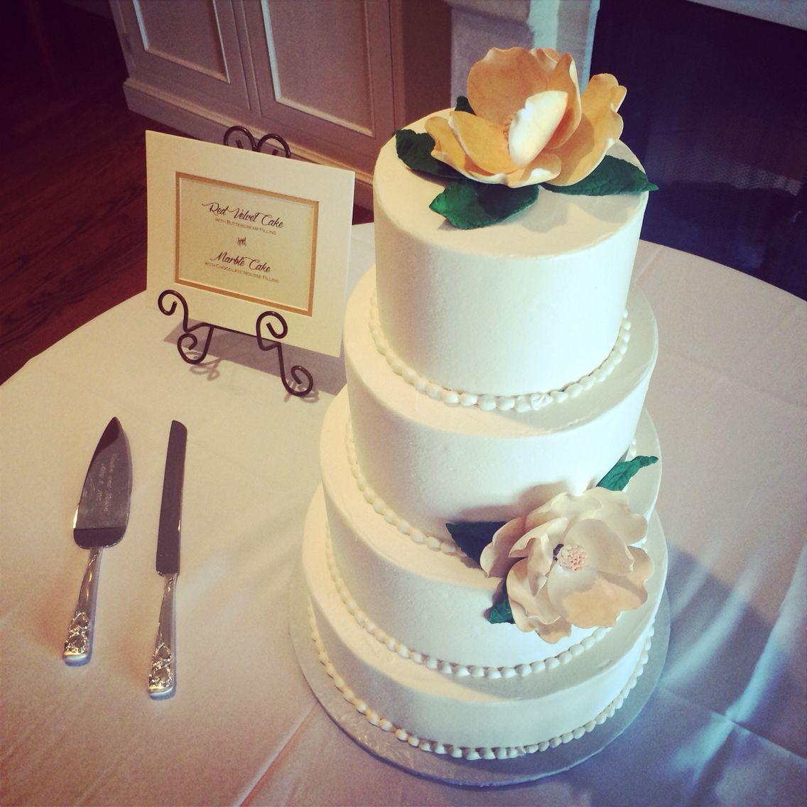 Wedding Cake At Reception Located Lee House In Downtown Pensacola Florida Leehousepensacola