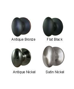 Overstock - Egg Shaped one-sided dummy door knobs are sold in ...