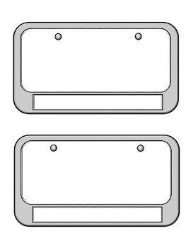 License Plate Template | Blank Printables | Pinterest | License ...