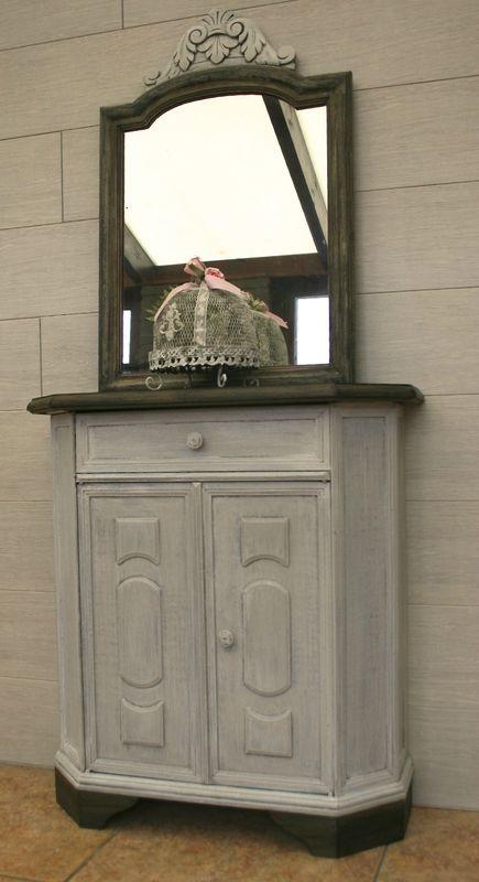 ensemble meuble ancien et son miroir