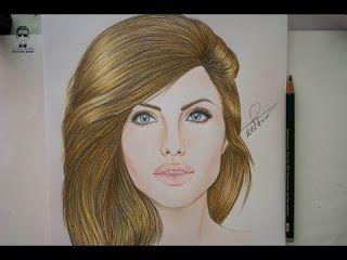 تعلم رسم الفنانة انجلينا جولي How To Draw Angelina Jolie Http Ift Tt 2sygc9i تعلم الرسم بألوان خشب دورة الرسم بالألوان الخشب شرح ط Drawings Female Sketch Art