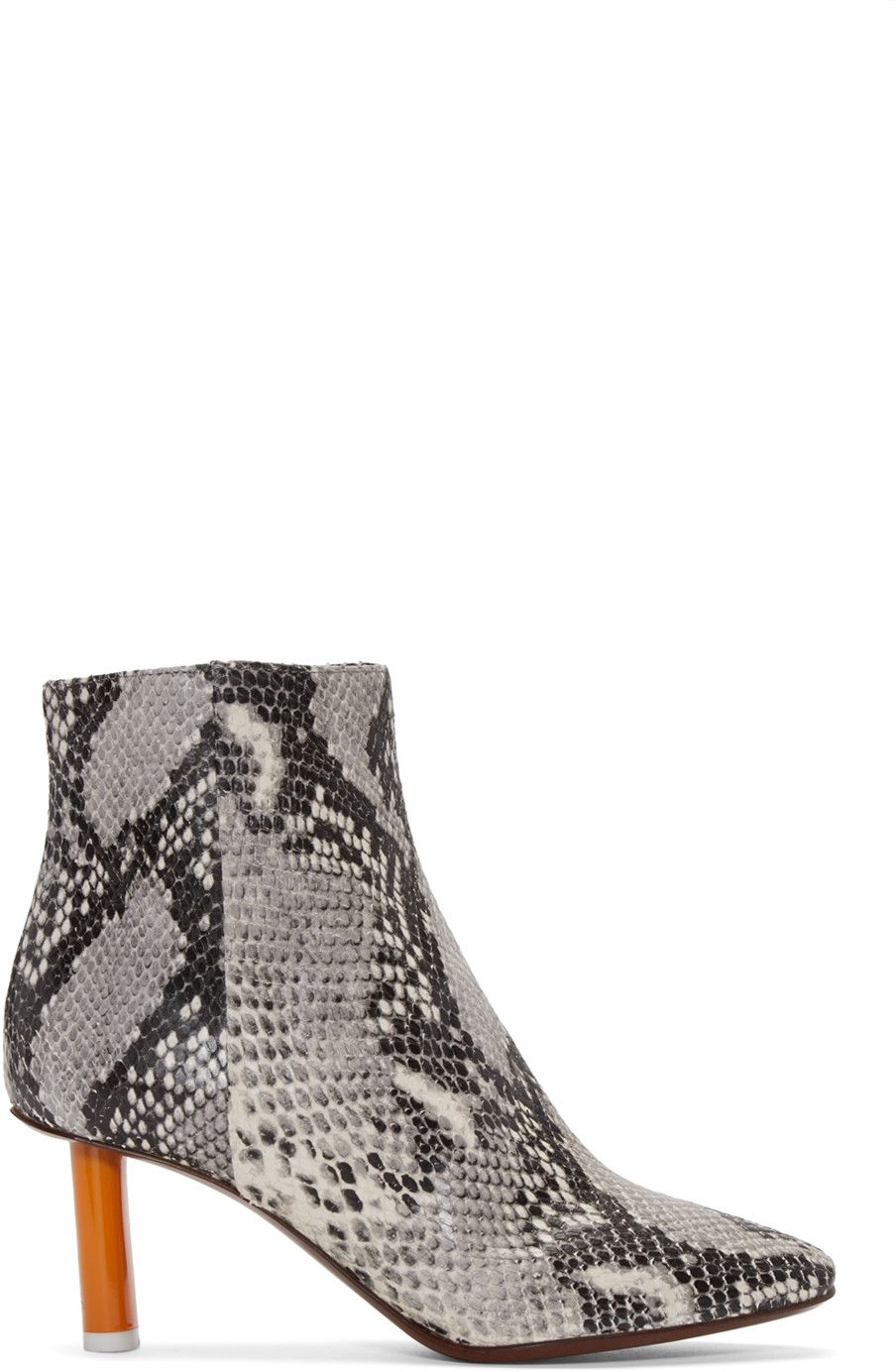 free shipping countdown package from china Vetements Lighter Snakeskin Ankle Boots discount newest YwFXP