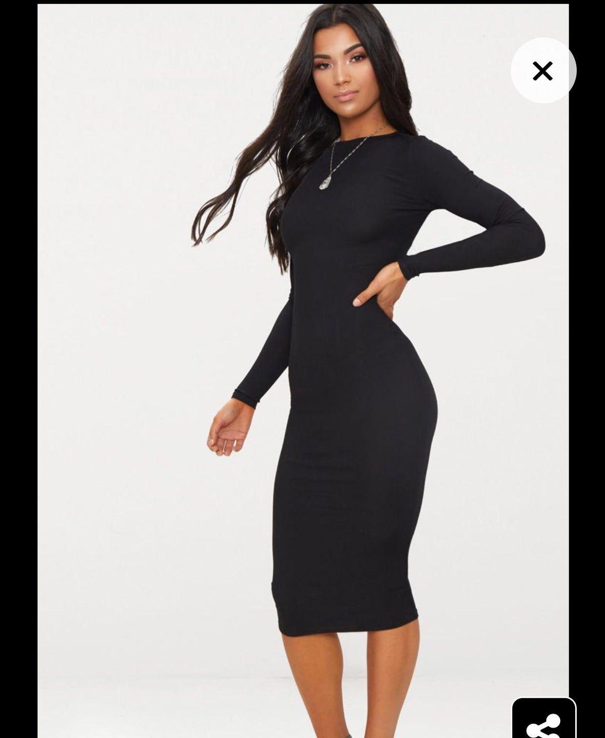 The black sheath length 120 cm in beautiful jersey dress