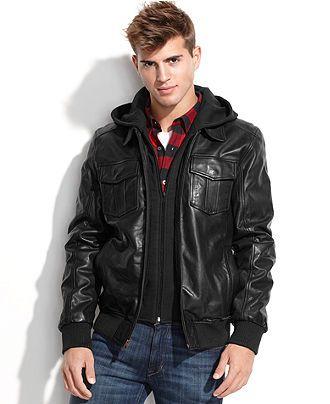 Guess Jacket Fleece Hood Leather Bomber Coats Jackets