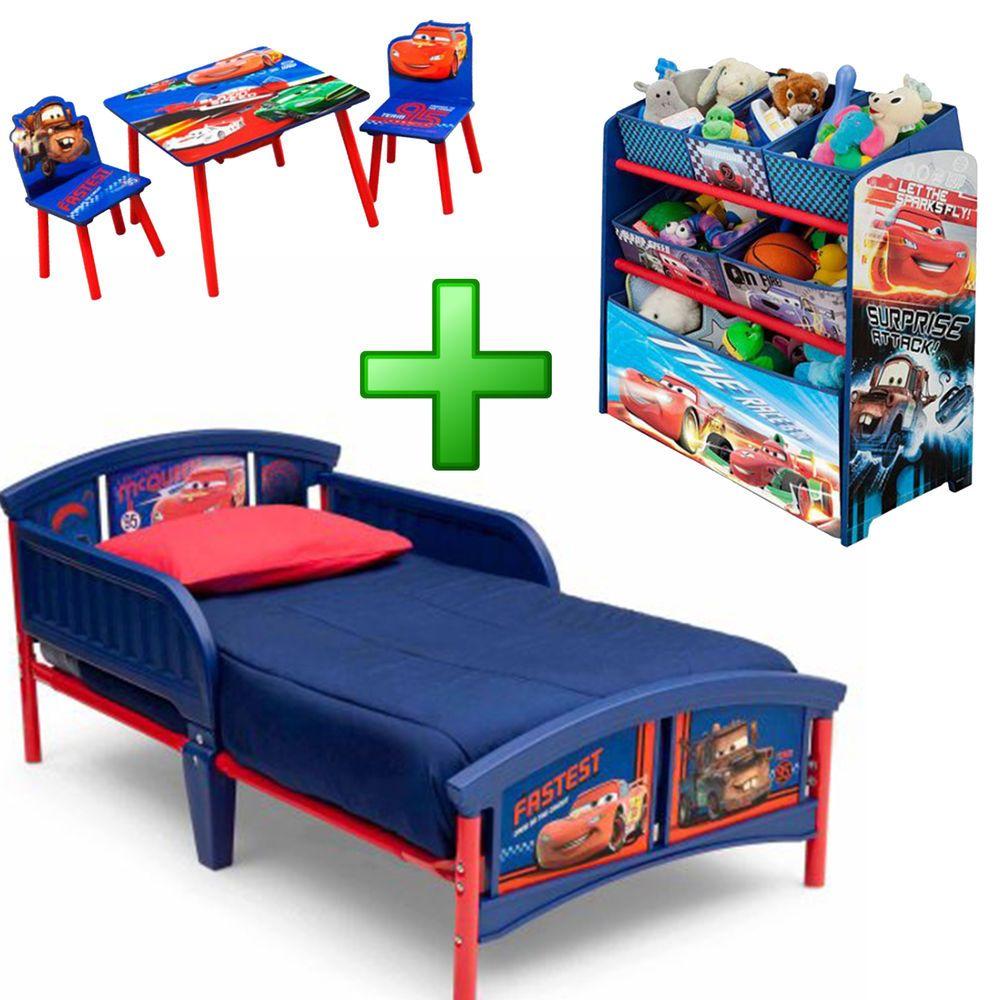 Boy Bedroom Furniture Set Girl Toy Organizer Kid Child Toddler Bed
