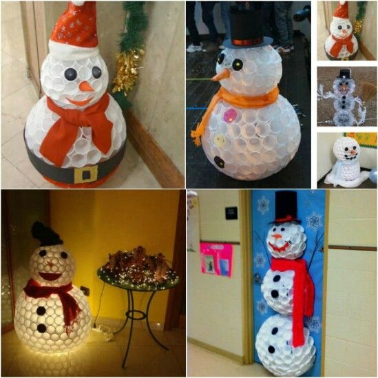 20 Impossibly Creative DIY Outdoor Christmas Decorations Best - outdoor snowman christmas decorations