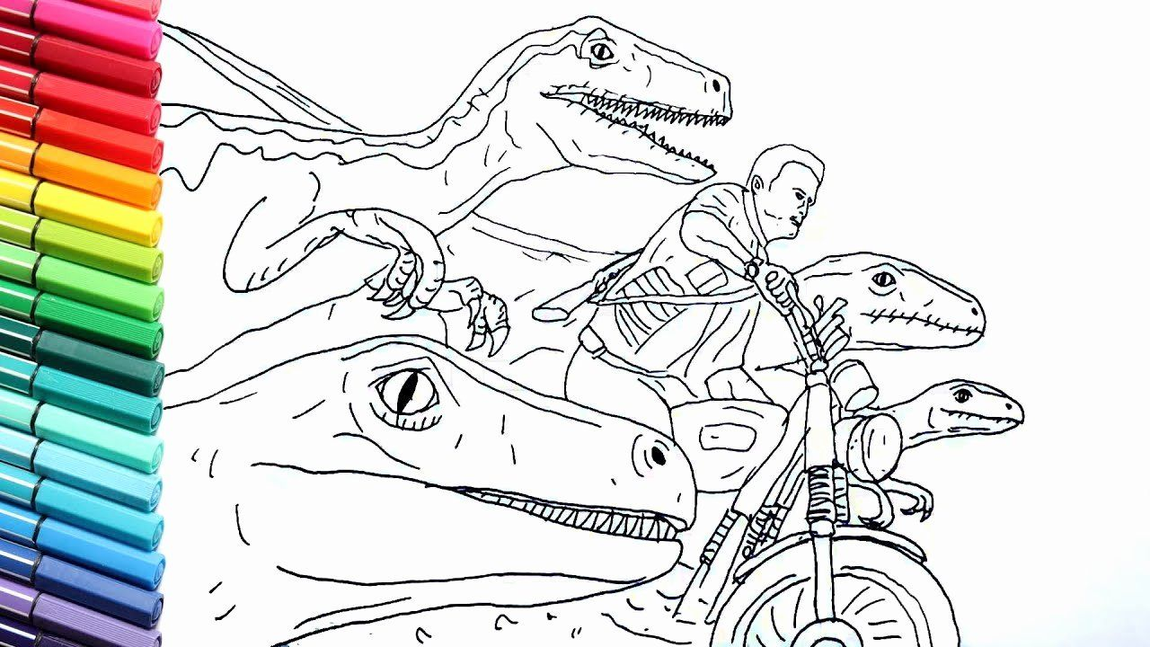 Jurassic World Coloring Page Elegant Drawing And Coloring Jurrasic World Raptor And Motorbike Coloring Pages Mermaid Coloring Pages Fathers Day Coloring Page