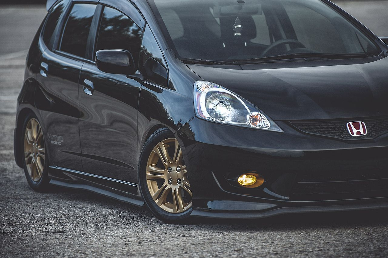 My GE8 Honda Fit Flush Offset Camber Fitment Pinterest