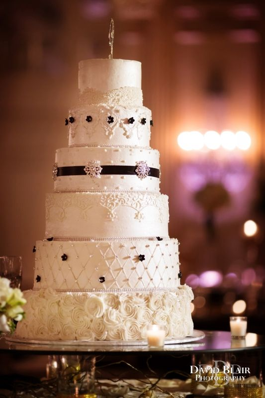 Each Layer Of This Beautiful Wedding Cake Is Different Reception In The Brown Hotel