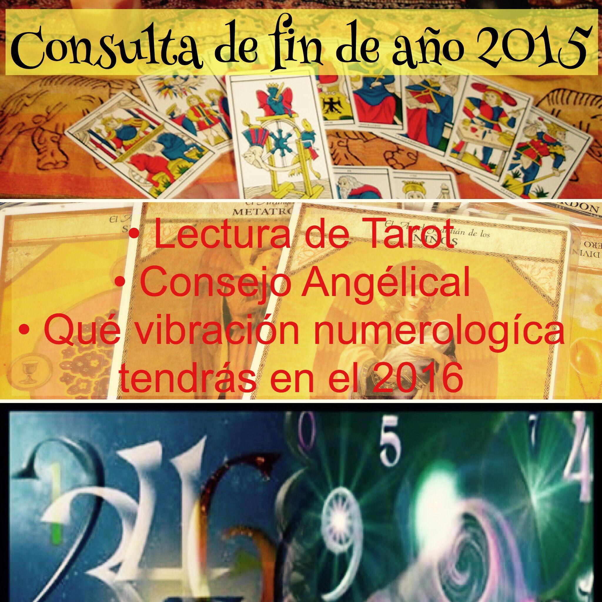 Consulta espiritual de fin de año 2015 #lecturadetarot #numerologia #angeles #mensajeangelico
