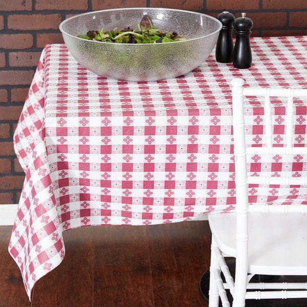 Intedge Burgundy Checkered Gingham Vinyl Table In 2020 Vinyl Table Covers Table Covers Cloth Table Covers