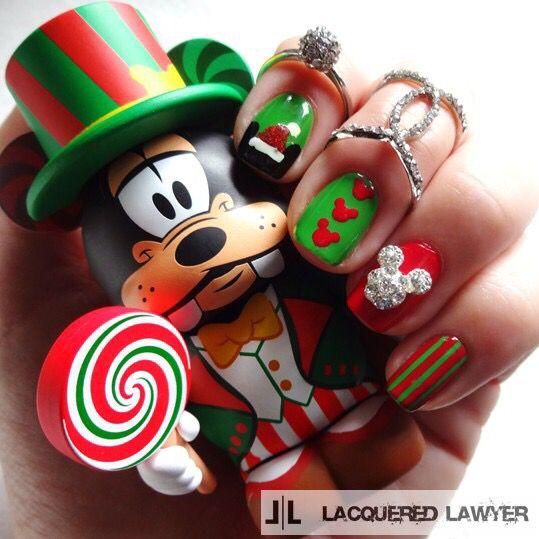 Christmas Disney Nails