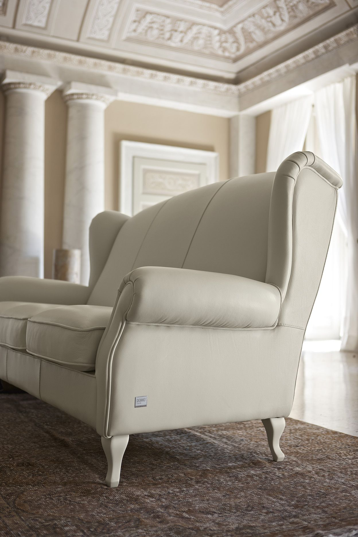 Divani In Pelle Colorati.Bergere Doimo Salotti Armchair Tufted Or Plain Version
