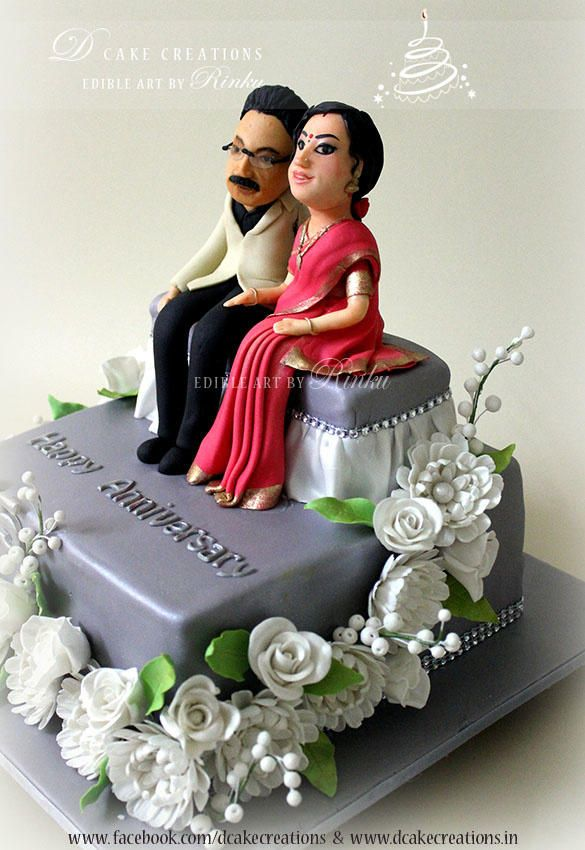 25 Years Of Togetherness Cake By D Cake Creations Marriage