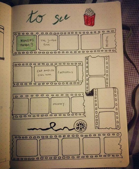 Bullet Journal Movie Page Yahoo Image Search Results Bullet
