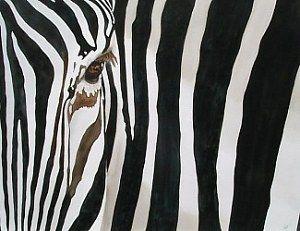Ruth Tatter: Zebra   WATERCOLOR
