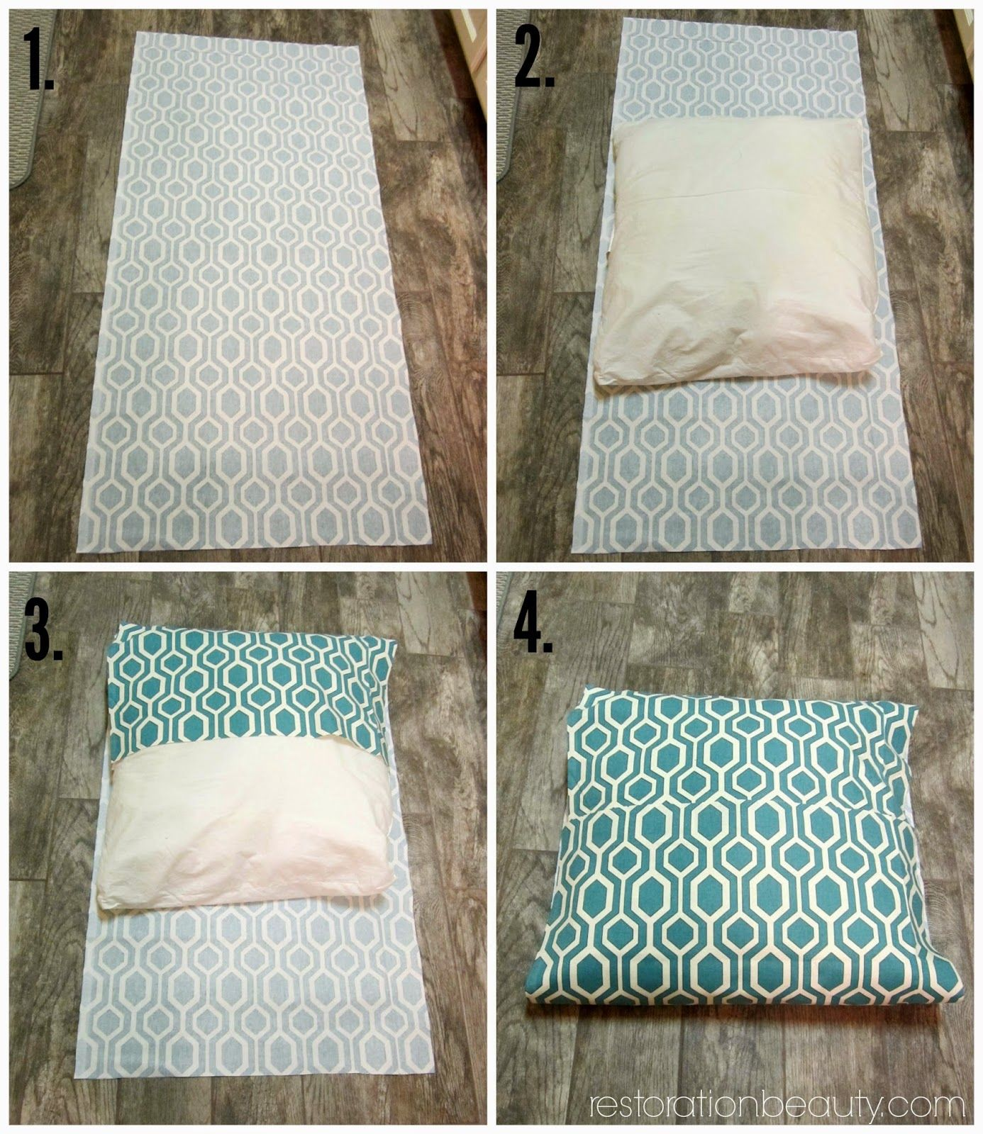 How To Make Diy Floor Pillows No Sew