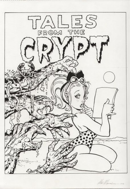 Tales From The Crypt Coloring Page Horror Halloween Coloring