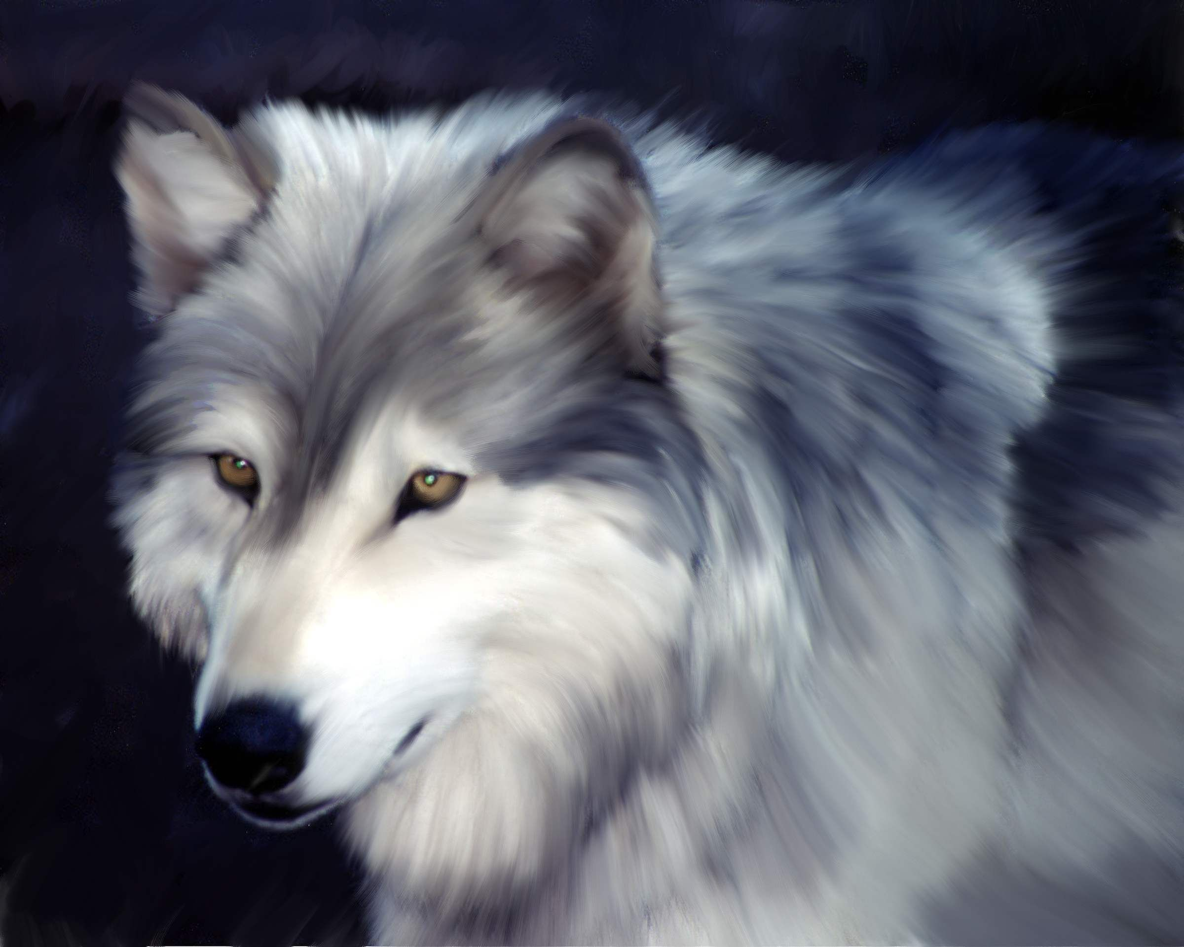 Grey Wolf  Digital Media using Corel Painter  Prints available:   16x20  / 20x24  /  24x30  email arwillustration@comcast.net   for pricing