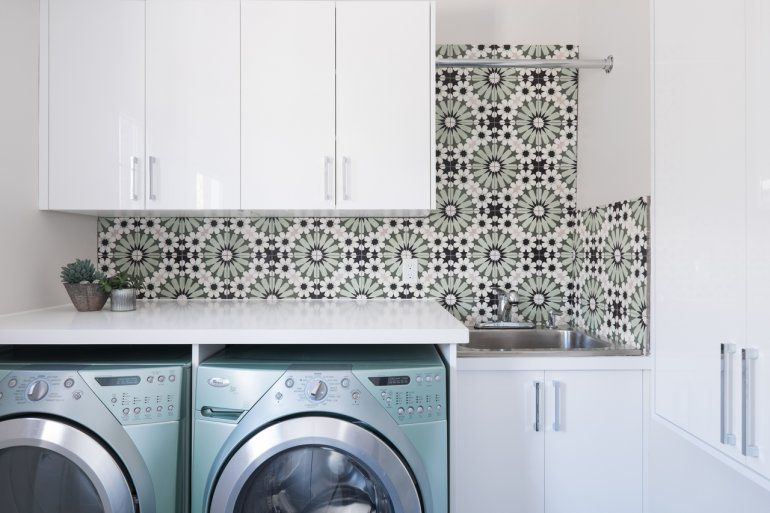 Layout Laundry Room Washer And Dryer Tile Trends