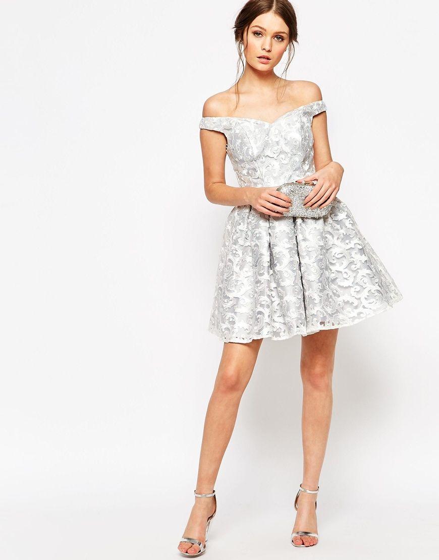 Image 4 of chi chi london petite brocade lace bardot prom dress shop chi chi london petite brocade lace bardot prom dress at asos ombrellifo Choice Image