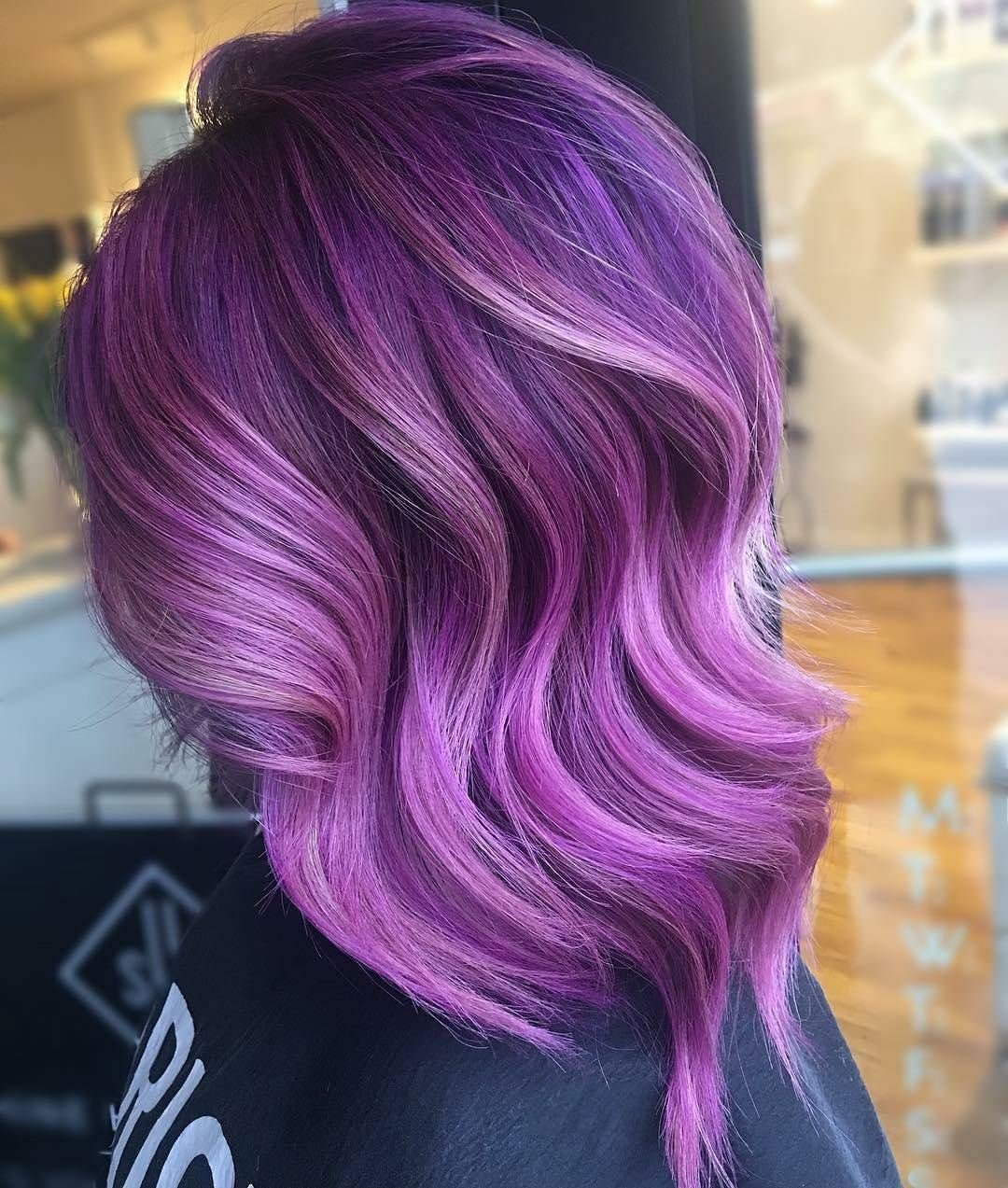 Pin By Aimy T On Har Faded Purple Hair Hair Color Purple Purple Balayage