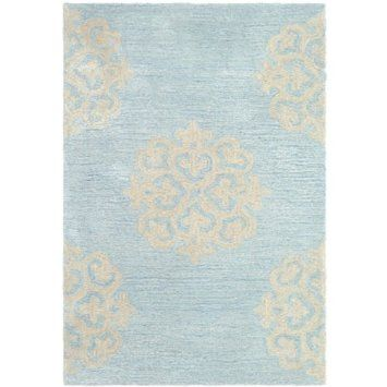 "Amazon.com - 9'6"" x 13'6"" Rectangular Safavieh Area Rug SOH724A-10 Turquoise/Yellow Color Hand Tufted India ""Soho Collection"" -"