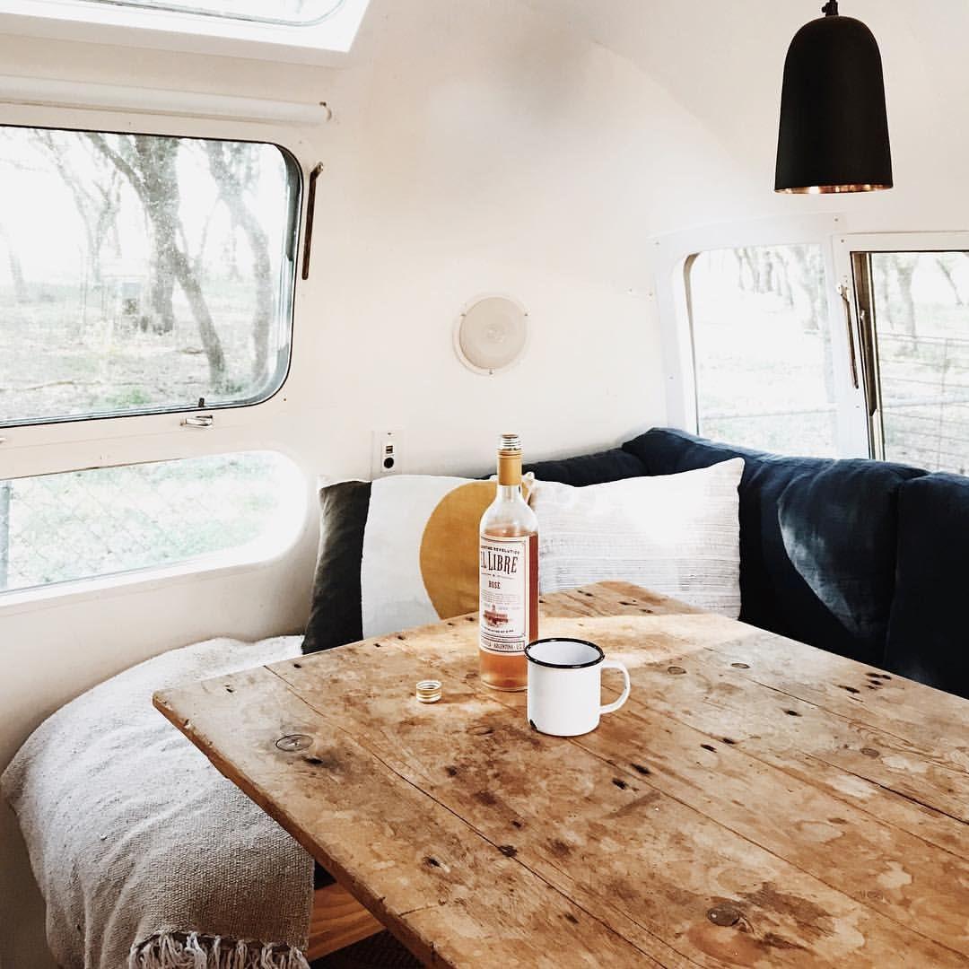 Brilliant Airstream Renovation Kitchen Couch Glamping Airstream Creativecarmelina Interior Chair Design Creativecarmelinacom