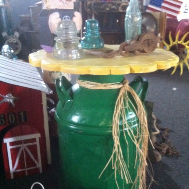 Milk Can table/Mike