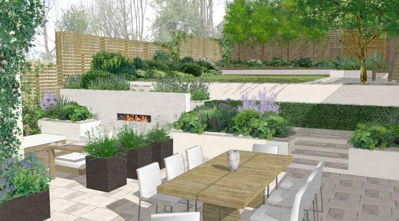 Charlotte rowe fantastic garden design garden design for Pool design sketchup