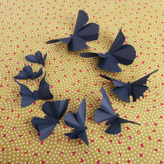 I like the background pattern and colour / 3D Butterfly Wall Art: 60 ...