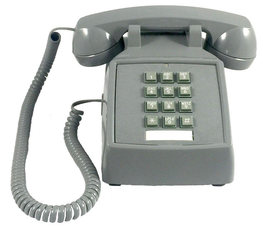 Desk Gray Phone 689343094411 Ebay Vintage Home Offices Vintage Phones Retro Desk