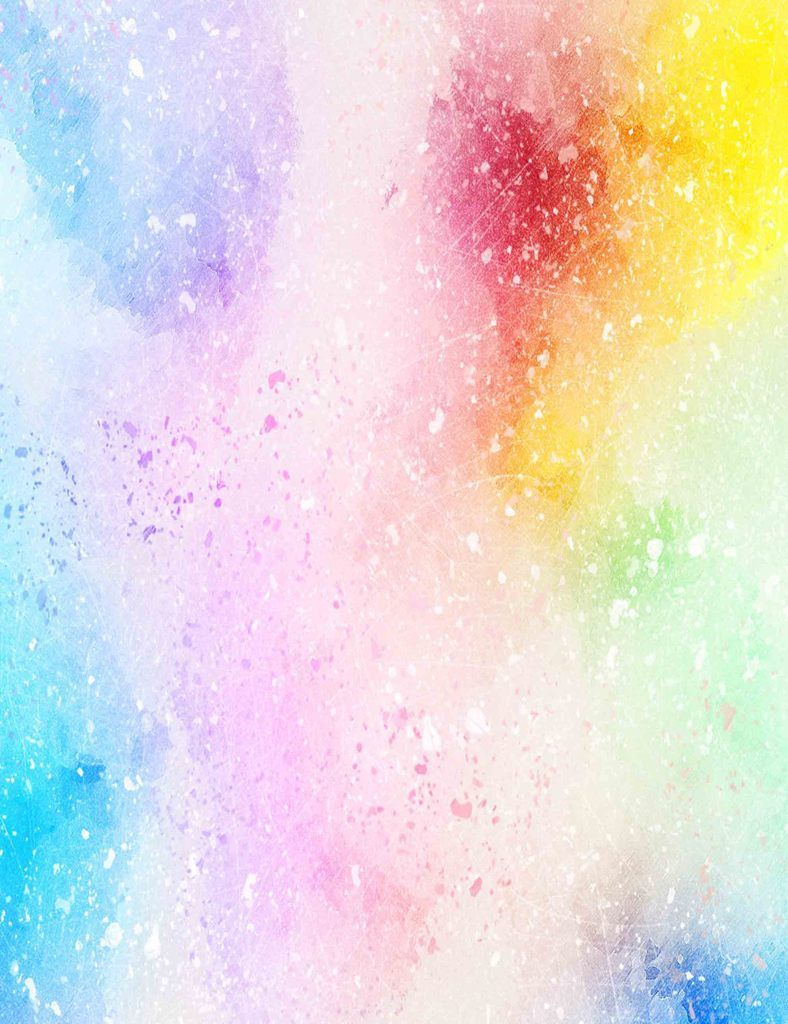 Abstract Rainbow Watercolors Printed Texture Photography Backdrop
