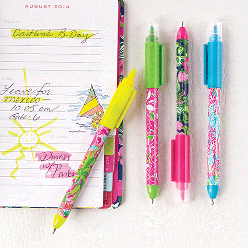 Delightful Lilly Pulitzer Pen With Highlighter Set. Perfect Add On To Any Agenda  Purchase! Lily PulitzerOffice SuppliesSchool ...