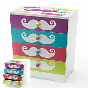 Kohls Jewelry Box Glamorous Wood Mustache Jewelry Box On Shopstyle  Brylis Board Decorating Design
