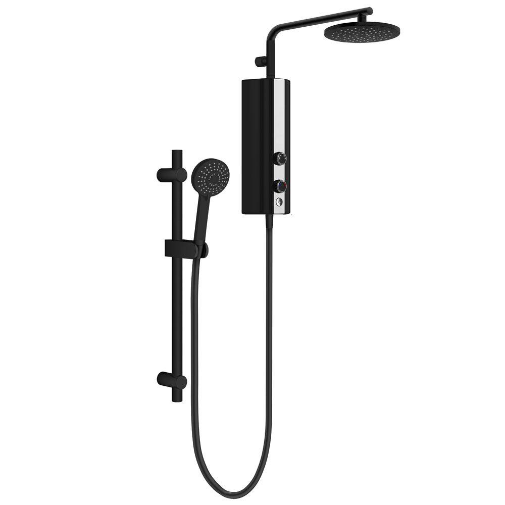 Aquas Aquamax Flex Manual Eco 9 5kw Matt Black Electric Shower Victorian Plumbing Uk Electric Showers Black Shower Shower Heads
