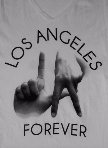 La Gang Sign T Shirt Los Angeles Forever California T Shirt White Size Medium T Shirts For Women T Shirt California Love