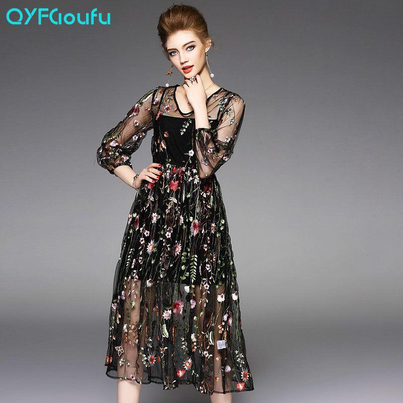 ... big swing dress 188115. Image result for VESTIDOS TULE BORDADO FLORES ec2888868bb5