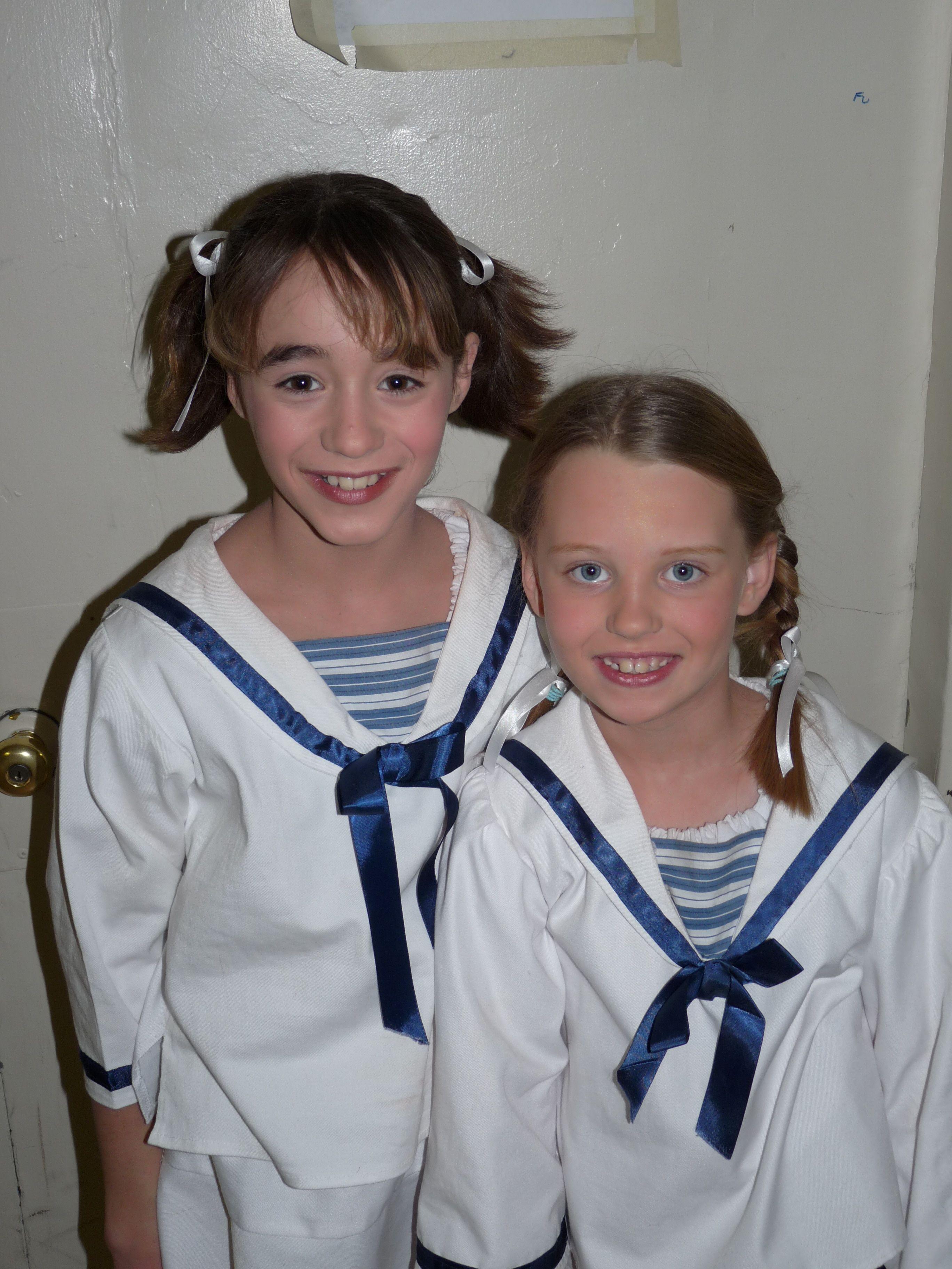 Brigitta and Gretl von Trapp in their sailor suits.