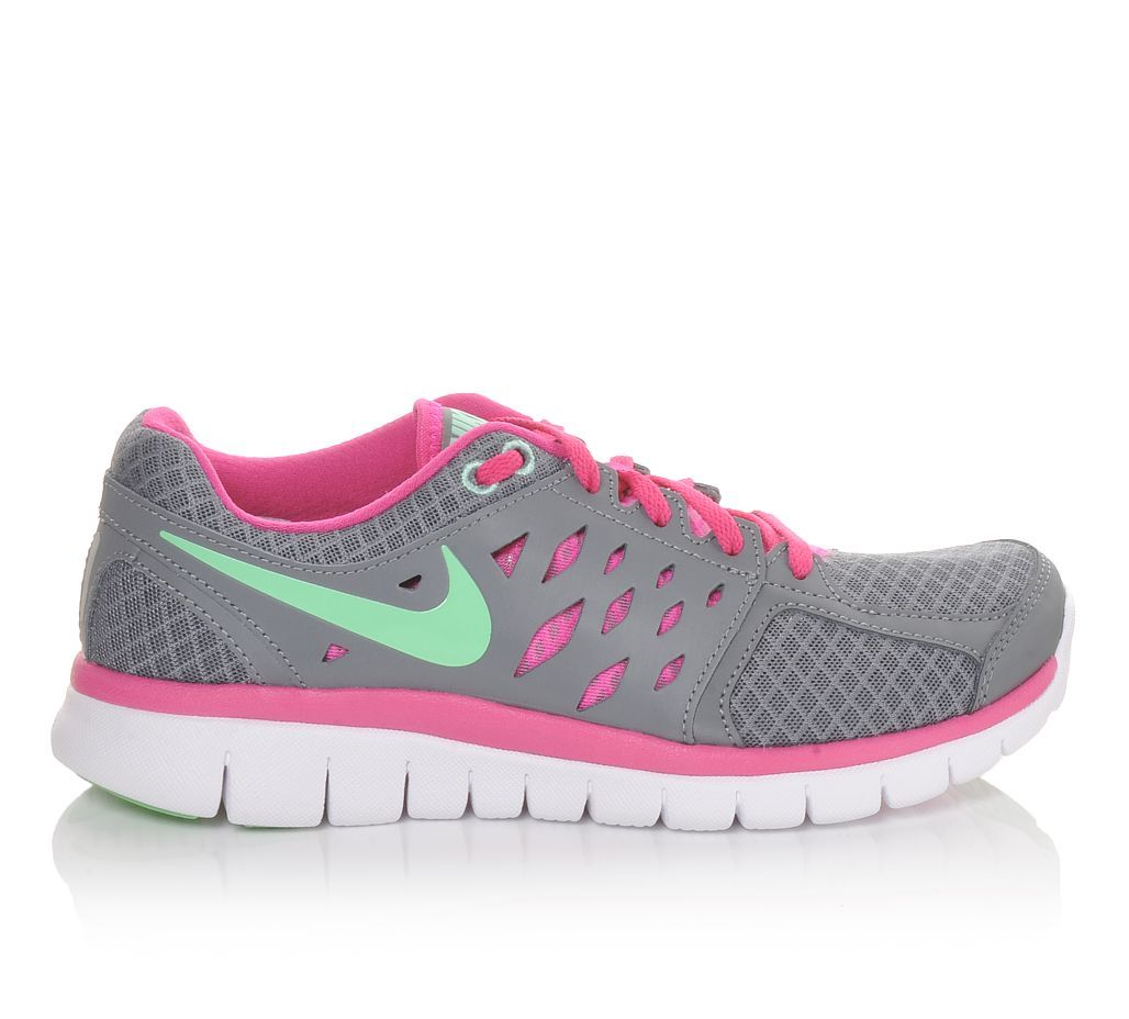 Women's Nike Flex 2013 Grey/Pink/Mint | Shoe Carnival