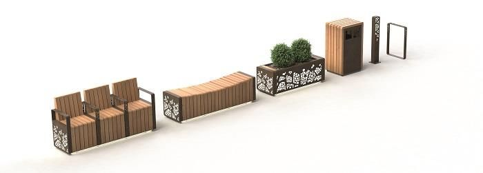 The Natural Elements range is a modular, coordinated range, inspired by biophilic design and elements from the natural environment.  #StreetFurniture #UrbanDesign