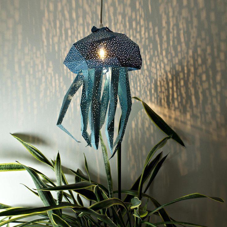 Diy papercraft light shades of aquatic life by vasili