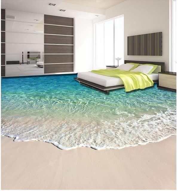 Online Shop Beach beautiful seaside scenery 3D floor