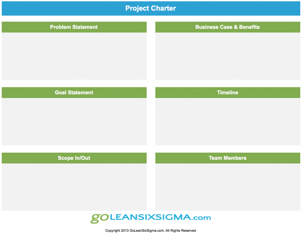 free lean six sigma template project charter the project charter