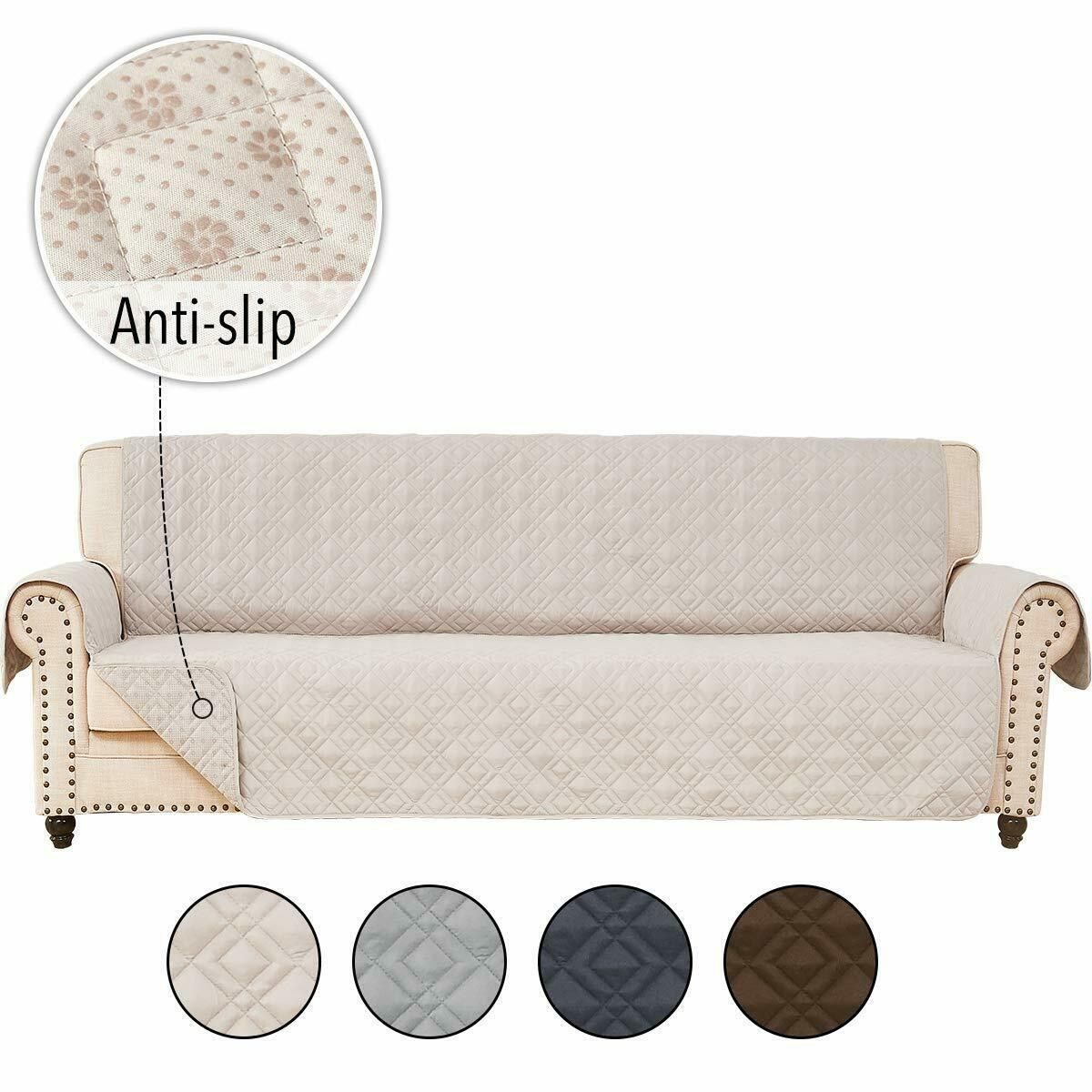 Anti Slip Chair Seat For Leather Sofa Couch Slipcover Pet Covers Furniture Prote 21 99 Lounge Seating In 2020 Leather Sofa Couch Slip Covers Couch Washable Sofa