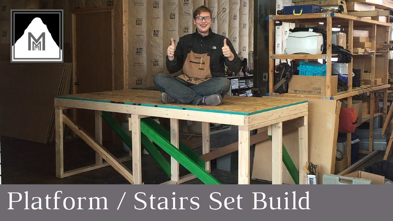 How To Build A Raised Platform And Stairs In This Episode I Go