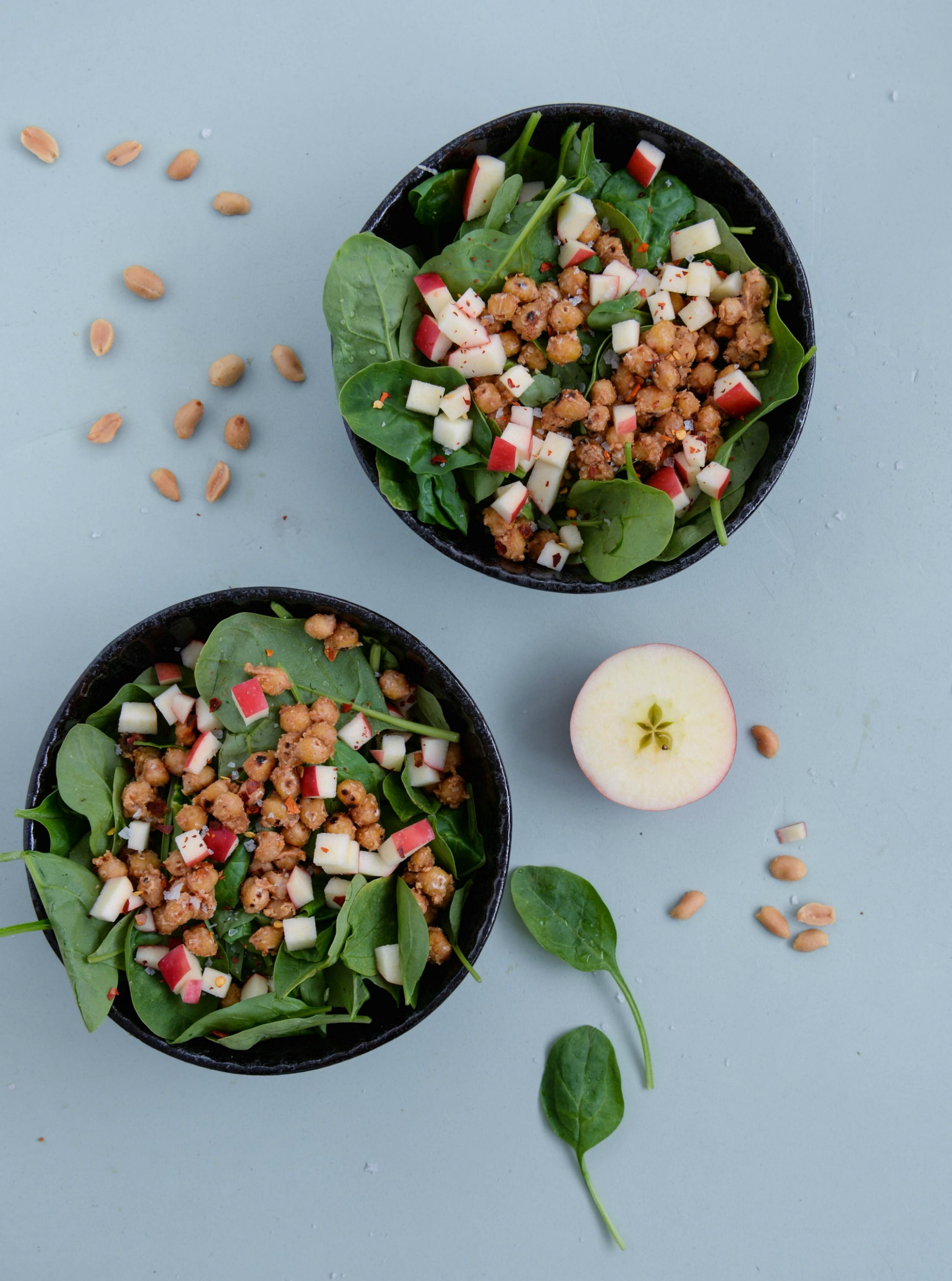 Spinach salad recipe for a salad made of baby spinach with peanut recipe for a salad made of baby spinach with peanut butter fried forumfinder Image collections