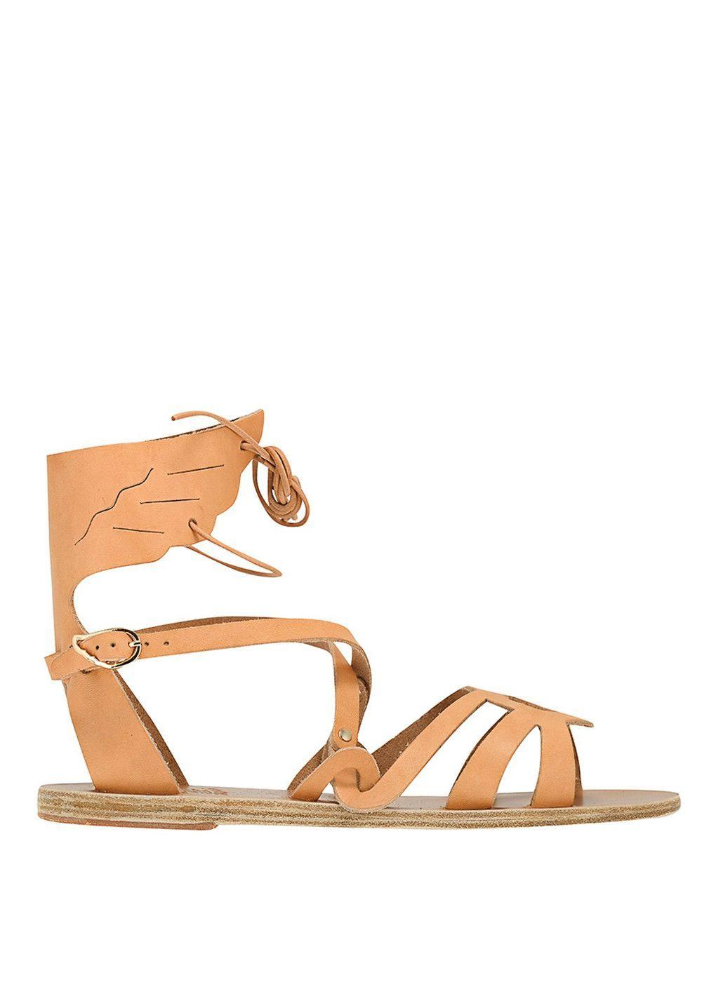 [Ancient Greek Sandals] Elpida Flat Sandal - Natural | Ancient greek sandals  and Products